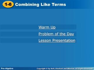 pre-algebra lesson 1.1