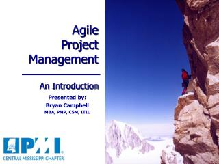 Agile  Project Management An Introduction