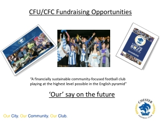 CFU/CFC Fundraising Opportunities