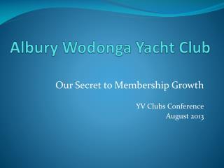 Albury Wodonga Yacht Club