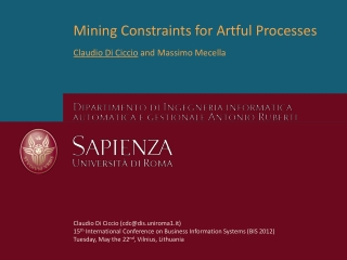 Mining Constraints for Artful Processes