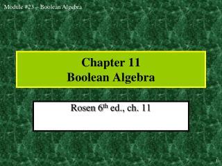 chapter 11 boolean algebra