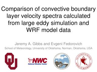Comparison of convective boundary layer velocity spectra calculated from large eddy simulation and WRF model data
