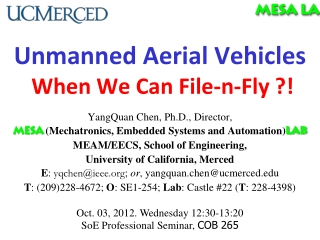 Unmanned Aerial Vehicles When We Can  File-n-Fly ?!
