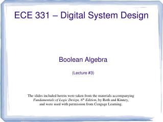 boolean algebra  logic design