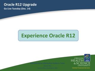 Oracle R12 Upgrade