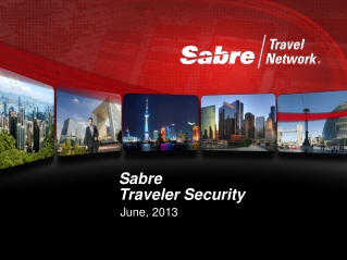 Sabre Traveler Security