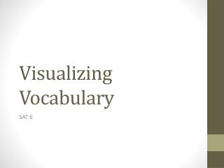Visualizing Vocabulary