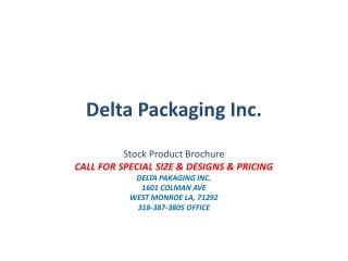 Delta Packaging Inc.