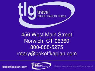 456 West Main Street Norwich, CT 06360 800-888-5275 rotary@bokoffkaplan.com
