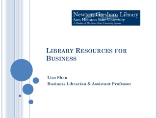 Library Resources for Business