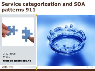 Service categorization and SOA patterns 911