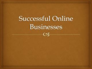 Successful Online Businesses