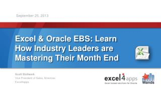 Excel & Oracle EBS: Learn How Industry Leaders are Mastering Their Month End