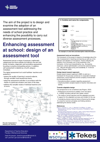 Enhancing assessment at school: design of an assessment tool