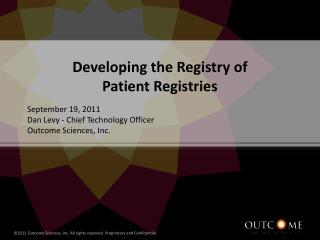 Developing the Registry of  Patient Registries