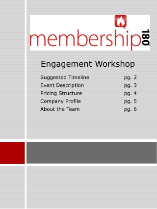 Engagement Workshop