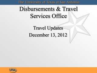 Disbursements & Travel  Services Office