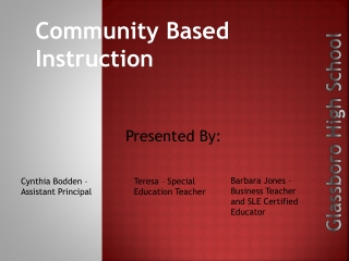 Community Based Instruction