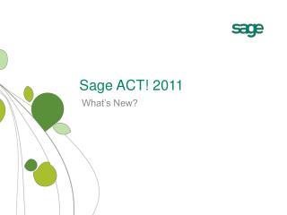 Sage ACT! 2011
