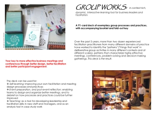 GROUP WORKS:   A context-rich, dynamic, interactive learning tool for business leaders and facilitators