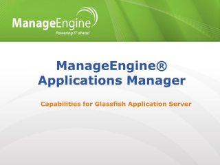 ManageEngine® Applications Manager