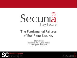 The Fundamental Failures  of End-Point Security