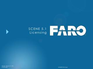 SCENE 5.1 Licensing