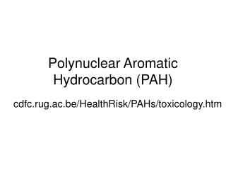 polynuclear aromatic hydrocarbon pah
