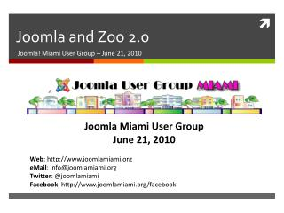 Joomla  and  Zoo 2.0