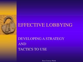 effective lobbying
