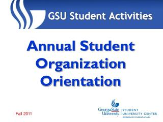 Annual Student Organization Orientation
