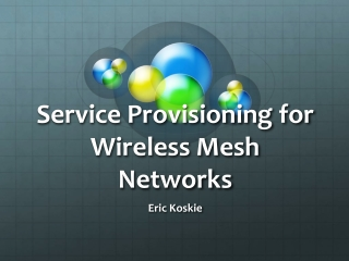 Service Provisioning for Wireless Mesh Networks