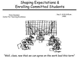 Shaping Expectations & Enrolling Committed Students