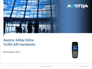 Aastra 340w/342w VoWLAN  handsets