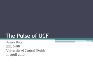 The Pulse of UCF