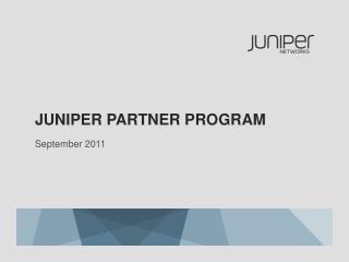 Juniper  partner program