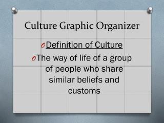 Culture Graphic Organizer