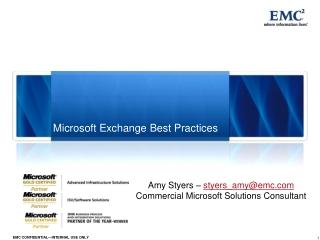 Microsoft Exchange Best Practices