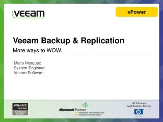 Veeam Backup & Replicatio n