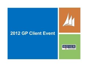 2012 GP Client Event