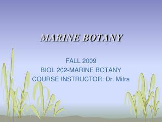 marine botany