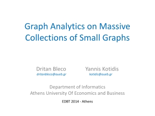 Graph Analytics on Massive Collections of Small Graphs