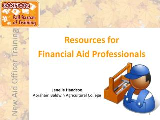 Resources for  Financial Aid Professionals