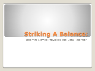 Striking A Balance:
