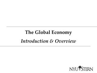 The Global Economy Introduction & Overview