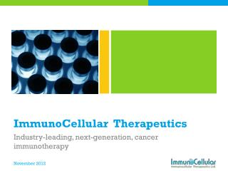 ImmunoCellular   Therapeutics