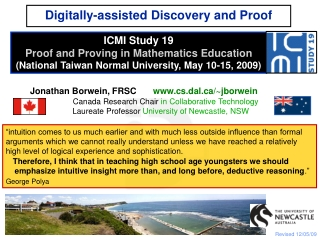 Digitally-assisted Discovery and Proof