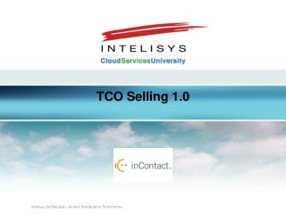 TCO Selling 1.0