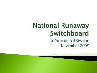 National Runaway Switchboard